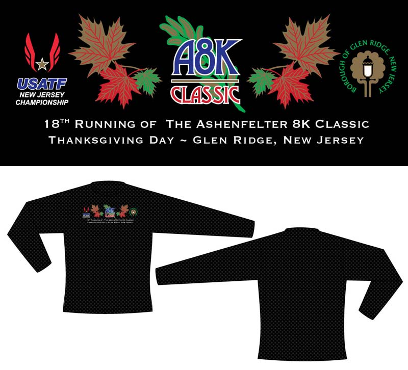 race shirt design for 2017 Ashenfelter 8K Classic